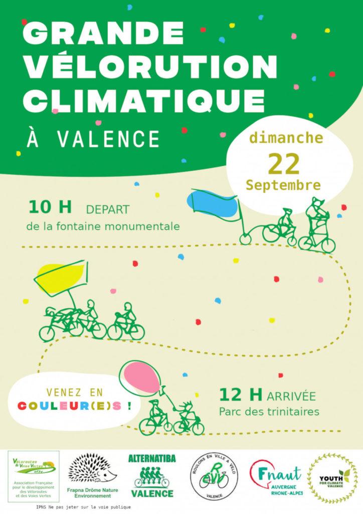 Grande vélorution climatique à Valence @ Valence
