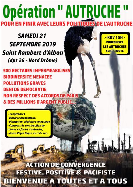 Opération autruche @ Saint-Rambert-d'Albon